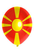 Balloon colored in national flag of macedonia — Stock Photo