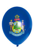 Balloon colored in flag of american state of maine — Photo