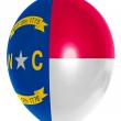 Balloon colored in flag of american state of north carolina — Stock Photo #26411103