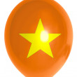 Balloon colored in  national flag of vietnam — Stock fotografie