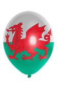 Balloon colored in national flag of wales — Stock Photo