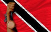Bronzemedaille für sport und nationalflagge trinidad tobago — Stockfoto