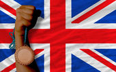 イギリスの国旗・ スポーツのための銅メダル — ストック写真