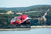 ROVINJ, CROATIA - APRIL 13 2014 safety helicopter at Red Bull Ai — 图库照片
