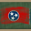 Flag of us state of tennessee on blackboard painted with chalk — Stock Photo #8840635