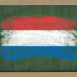 National flag of holland on blackboard painted with chalk — Stock Photo #8860756
