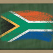 National flag of south africa on blackboard painted with chalk — Stock Photo #8861068
