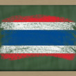 National flag of thailand on blackboard painted with chalk — Stock Photo #8862558