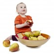 Baby with apples — Stock Photo #11049620