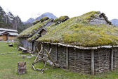 Rebuild historic house in norway — Stock Photo