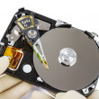 Technician with open hard-disk — Stock Photo #14172265