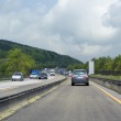 Highway scenery in germany — Stock Photo