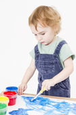 Cute child making picture — Stock Photo