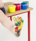 Painted foot — Stock Photo