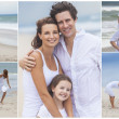 Royalty-Free Stock Photo: Family Montage Outside Beach Summer
