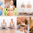 Healthy Lifestyle Montage Beautiful Women at Spa — Stock Photo #13806798