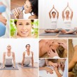 Healthy Lifestyle Montage Beautiful Women at Spa — Stock Photo