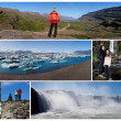 Montage Iceland Landscape Outdoor Lifestyle — Stock Photo #13807148