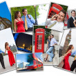 Stock Photo: Montage of Romantic Couple in London England