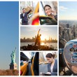 Young Woman New York City Lifestyle Montage — Stock Photo