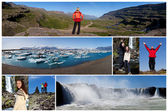 Montage Iceland Landscape Outdoor Lifestyle — Stock Photo