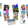 Montage of Young Active Children Having Fun Playing — Stock Photo