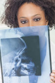 African American Female Woman Doctor X Ray — Stock Photo