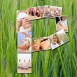 Montage of Beautiful Women at Health Spa - Stock Photo
