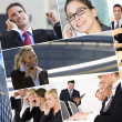 Men & Women Business Team Montage — Stock Photo