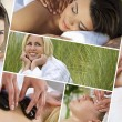Royalty-Free Stock Photo: Montage of Beautiful Women Relaxing At Spa