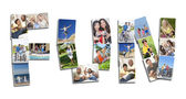 Montage of Active Having Fun — Stock Photo