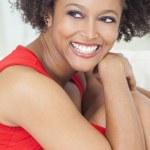 Happy Mixed Race African American Girl Perfect Teeth — Stock Photo #19861129