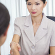 Asian Chinese Woman or Businesswoman Shaking Hands — Stock Photo
