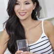 Royalty-Free Stock Photo: Chinese Asian Woman Drinking Glass of Water
