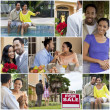 Happy African American Couple Romantic Lifestyle — Stock Photo