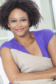 Happy Mixed Race African American Girl — Stock Photo