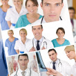 Hospital Medical Team Doctor & Nurses Men Women  — 图库照片
