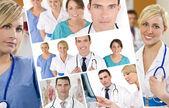 Hospital Medical Team Doctor & Nurses Men Women — Stock Photo