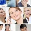 Montage of Successful Business Women — Stock Photo