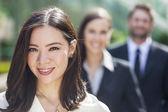Asian Woman Businesswoman Interracial Business Team — Stock Photo