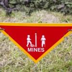 Land Mine Warning Sign — Stock Photo #38622957