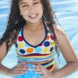 Girl Child In Swimming Pool — Stock Photo