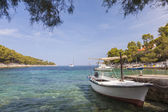 Tranquil Beach Lagoon on Hvar Island — Stock Photo