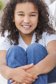 Happy Mixed Race African American Girl Child — Stock Photo