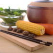 Healthy living with traditional chinese cooking — Stock Photo