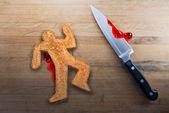 Murder of Breadman — Stock Photo