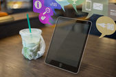 Futuristic Tablet on the table — Stock Photo