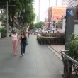 First person view walking along Orchard Road, Singapore — Stock Video