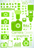Camera focused Info graphics — Stock Vector