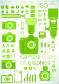 Camera focused Info graphics — Stock Vector